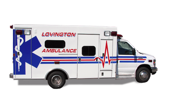 Lovington Ambulance vehicle wrap
