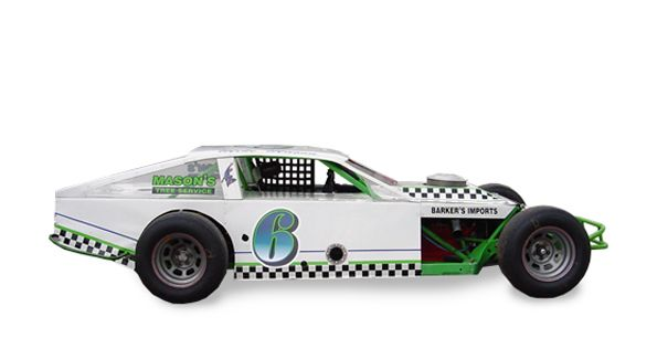 White racing car vehicle wrap